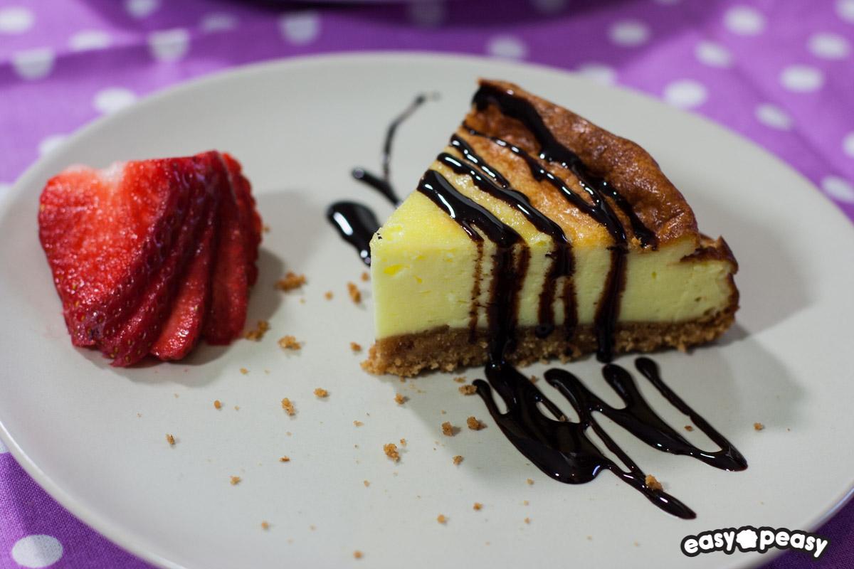 Cheesecake con fondo di biscotti!