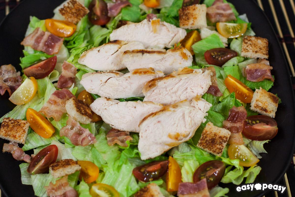 Tagliata di pollo in insalata easy peasy for Cucinare tagliata