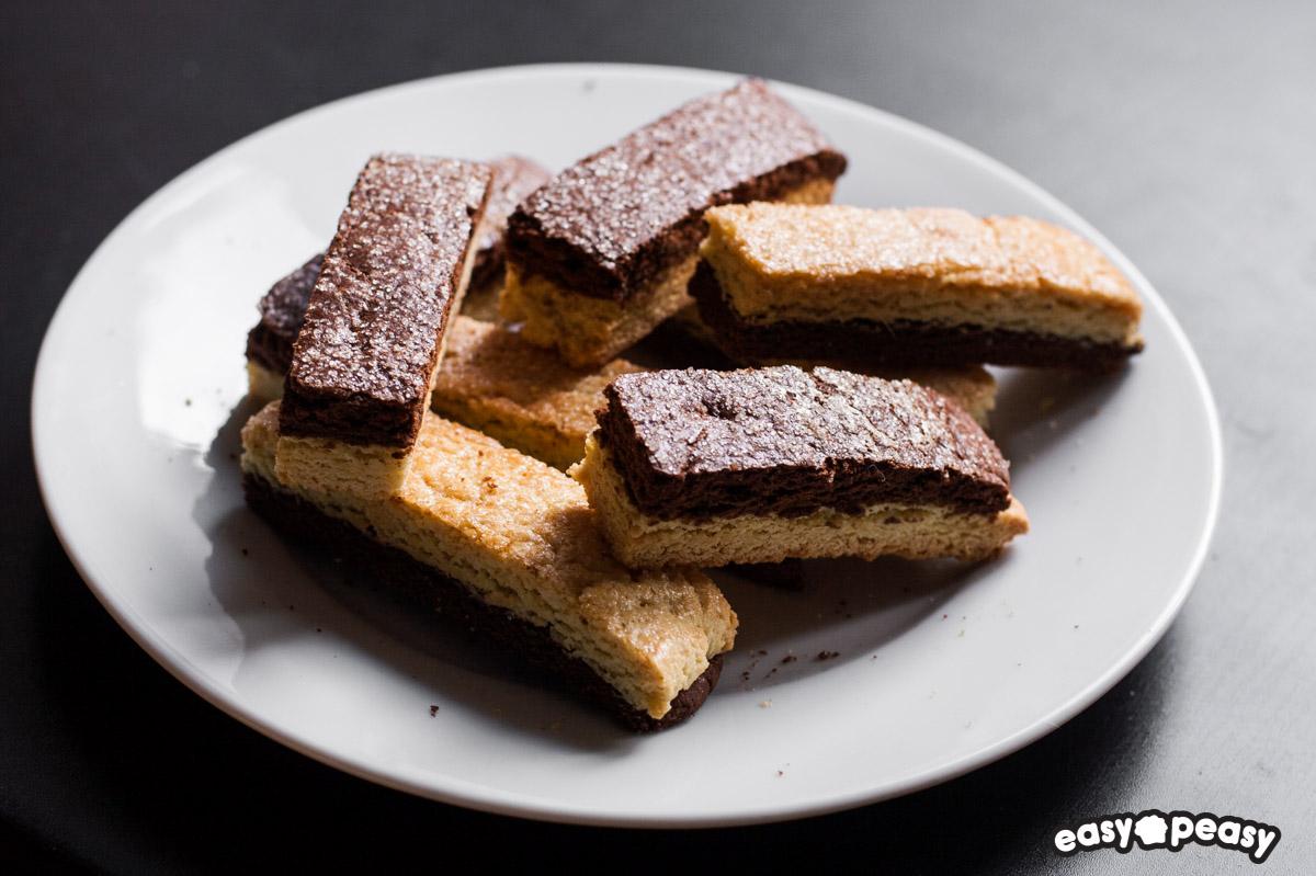 Biscotti colazione bicolore
