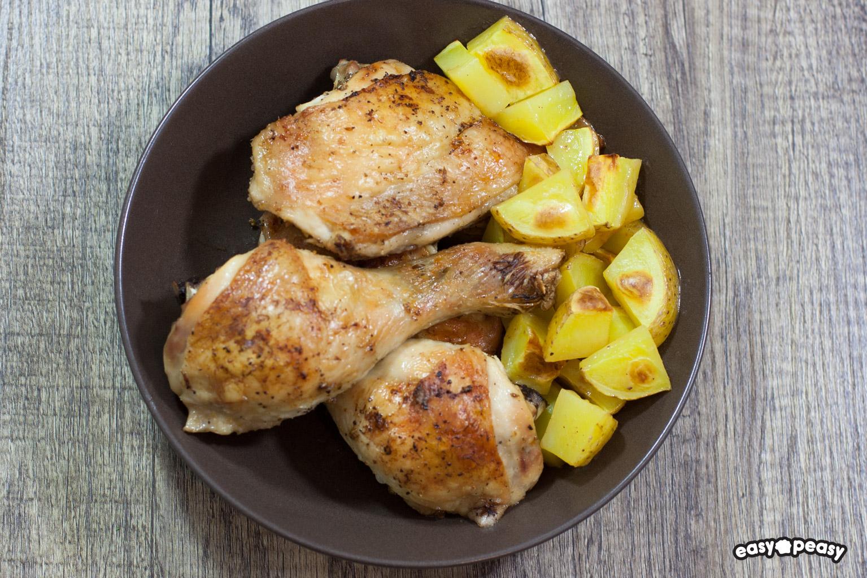 Pollo marinato limone e aglio.