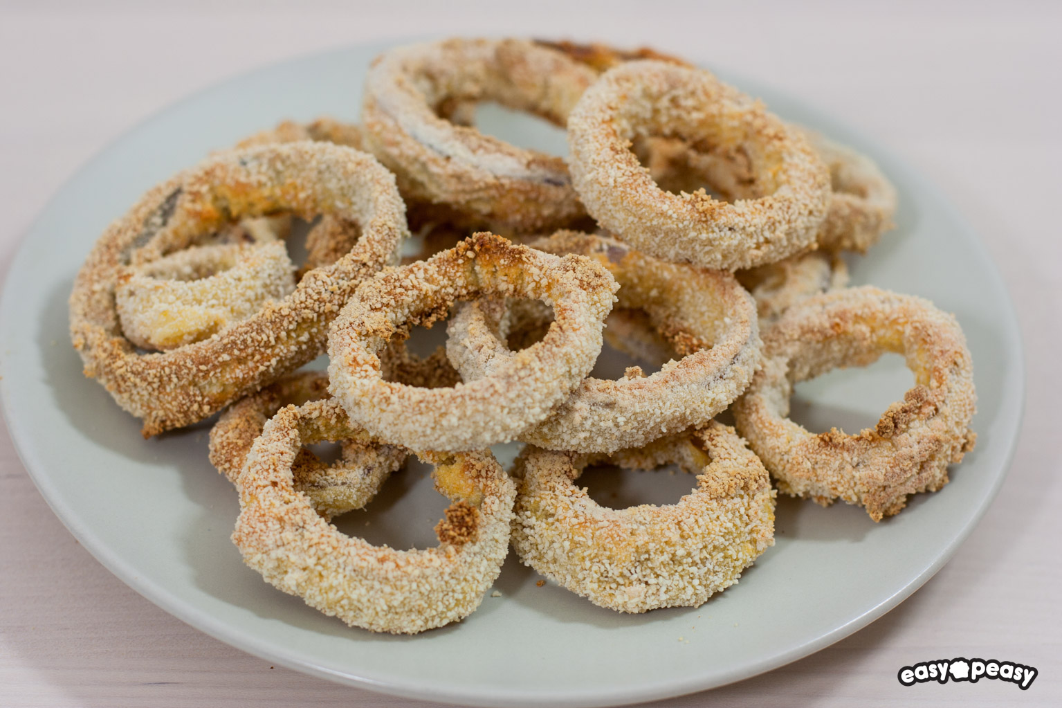 Onion rings al forno!