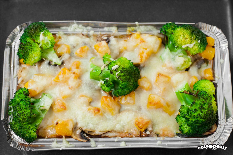 Polenta con verdure.