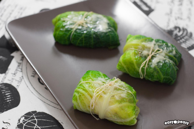 Fagottini verza e polenta