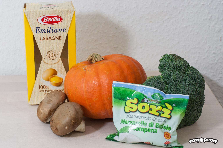 Lasagna funghi e zucca