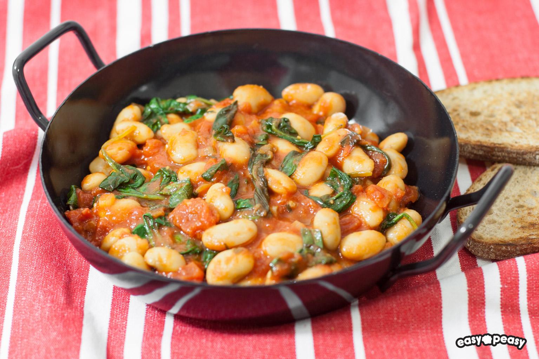 Fagioli e spinaci