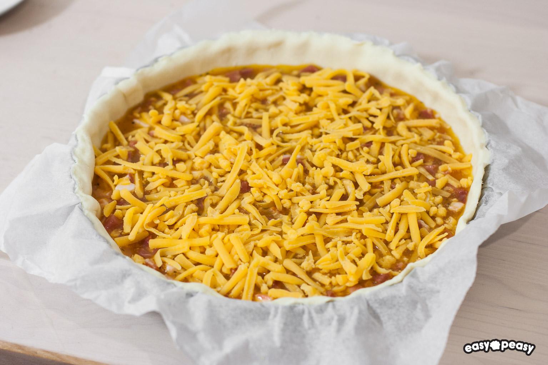 Quiche prosciutto e formaggio
