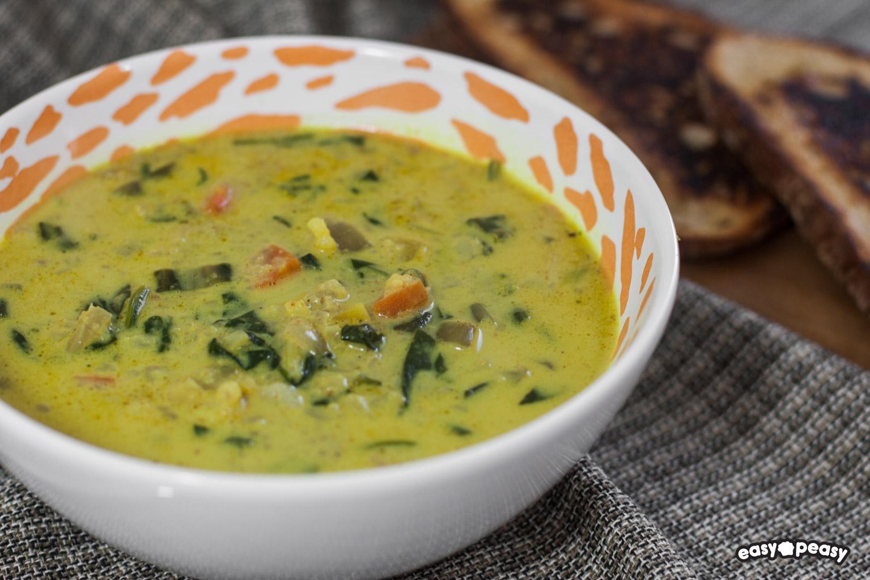 Zuppa cavolfiore e verdure