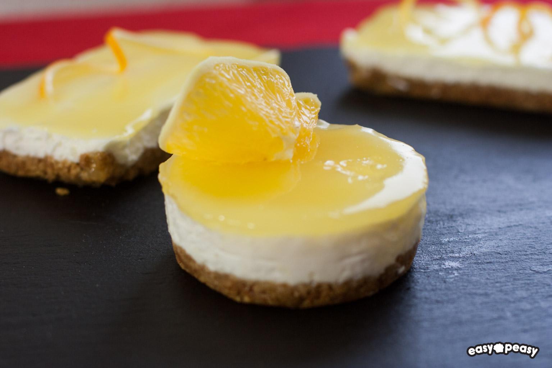 Mini cheesecake all'arancia!