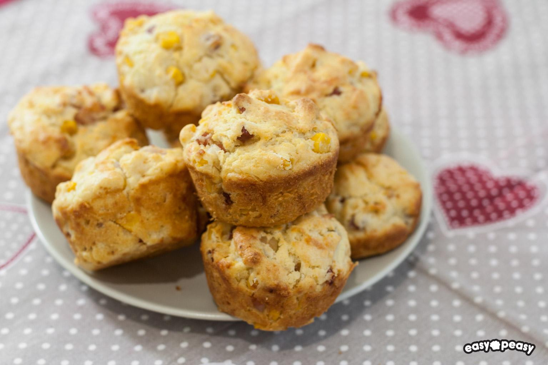 Muffin salati prosciutto e formaggio!