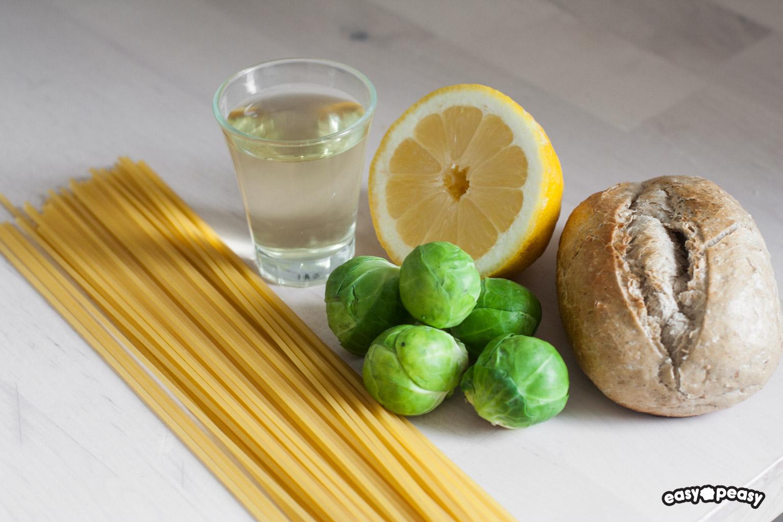 Pasta cavolini limone